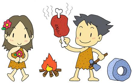 Comic zur Steinzeit Ernährung