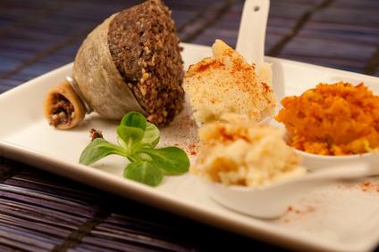 Haggis mit Kartoffel und Kohlrübe