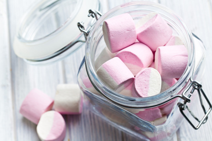 Marshmallows im Glas
