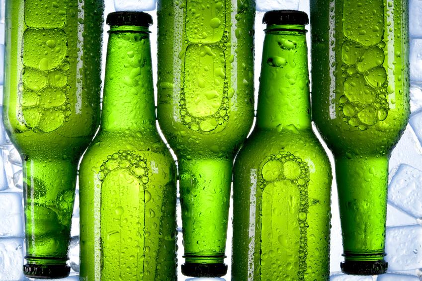 Fuenf Bierflaschen