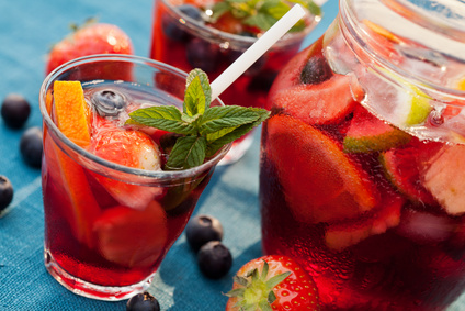 Sangria mit Früchten