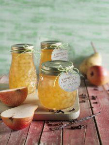 Süße Birnen, Vanille und Nelken werden in der Birnen-Konfitüre vereint. Foto: djd/Diamant