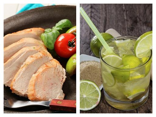 Raffiniertes Party-Menü: Rezept für Putenbraten nach Caipirinha-Art