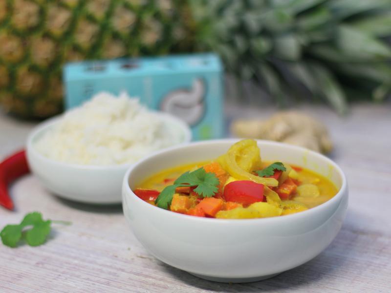 Fruchtiges Kokos-Fisch Curry